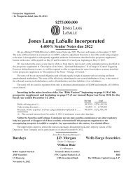Jones Lang LaSalle Incorporated