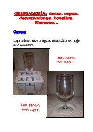 CRISTALERÍA CRISTALERÍA: vasos, copas ... - EuroPuntoAhorro