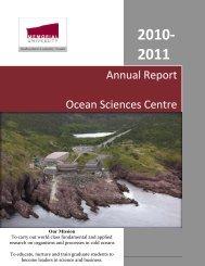 NEW*** Annual Report 2010-2011 - Memorial University of ...