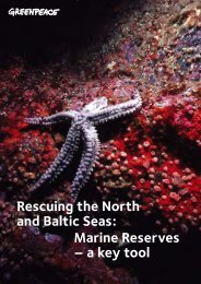 Rescuing the North and Baltic Seas: Marine Reserves ... - Greenpeace