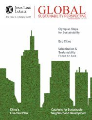 Global Sustainability Perspective magazine - Jones Lang LaSalle