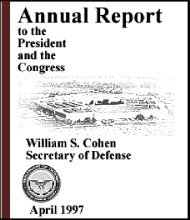 1997 Annual Defense Report Table of Contents - Air Force Magazine
