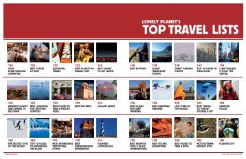 Lonely planet's top travel lists
