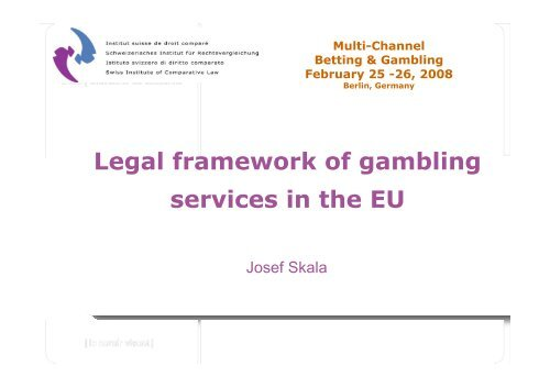 Legal framework of gambling services in the EU - Casinos.ch