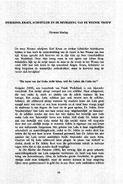 Herman Maring De twee Weense schrijvers Karl Kraus en ... - Groniek