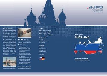 Faltblatt Auslandsmanagement als PDF - JPS GMBH