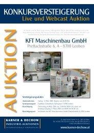 KONKURSVERSTEIGERUNG - Karner & Dechow Industrie Auktionen
