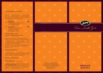 Preisliste - Weingut und Wein- & Gästehaus Jakoby