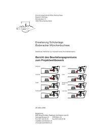 Der Jurybericht - Gemeinde Münchenbuchsee
