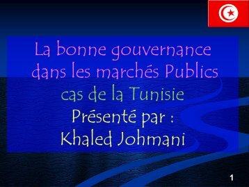 Cadre juridique de la réglementation des marchés publics en Tunisie