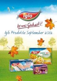 Iglo Produkte September 2012