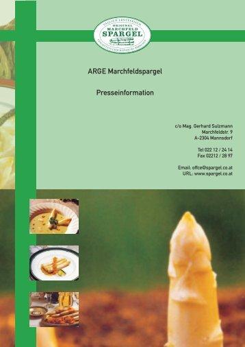 ARGE Marchfeldspargel Presseinformation