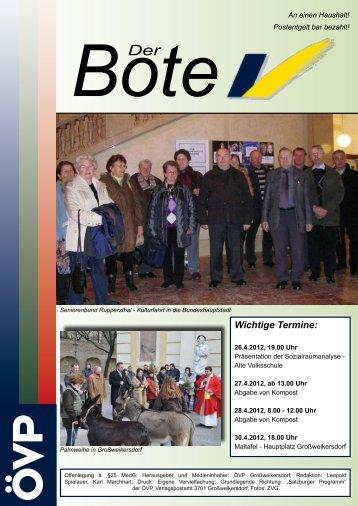 Der Bote - April 2012 - ÖVP Großweikersdorf