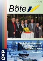 Der Bote - Dezember 2012 - ÖVP Großweikersdorf