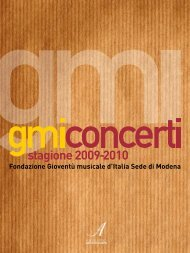 Dallari & Figlio - Gioventù Musicale d'Italia sede di Modena