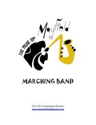 MARCHING BAND - Mayfield Band Boosters