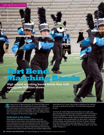 Fort Bend Marching Bands - Sugar Land Magazine