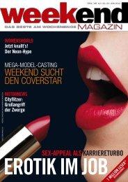 WEEkEnd suCht dEn CovErstar - Weekend Magazin