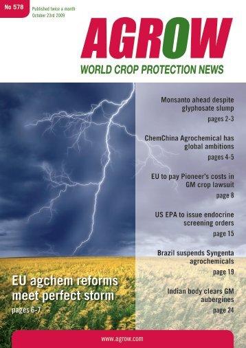 Monsanto ahead despite glyphosate slump pages 2-3 ... - Agrow