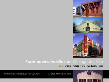 POSTMODERNE ARCHITEKTUR – Collage der Stile