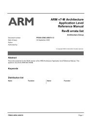 ARM v7-M Architecture Application Level Reference Manual RevB ...