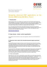 Designing advanced DSP applications on the Kinetis ... - IAR Systems