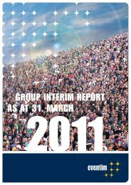 GROUP INTERIM REPORT AS AT 31. MARCH - Eventim
