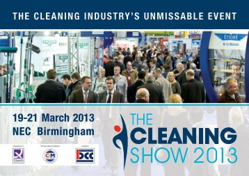 19-21 March 2013 NEC Birmingham - The Cleaning Show
