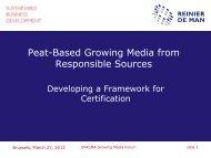 Peat-Based Growing Media from Responsible ... - Reinier de Man
