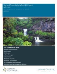The Hawaii Tourism Authority March 2012 Report April 6, 2012 ...