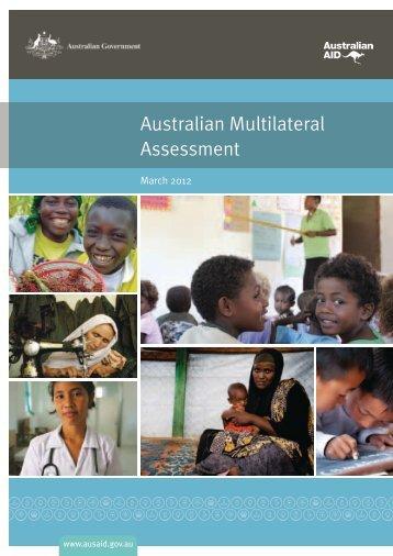 Australian Multilateral Assessment (AMA) Full Report - AusAID