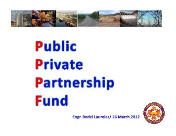 Public-Private Partnership Fund under Department of Finance