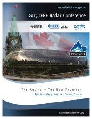 Partner and Exhibitor Prospectus - 2013 IEEE Radar Conference