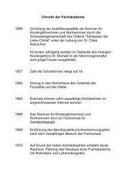 Chronik der Fachakademie - Fachakademie für Sozialpädagogik ...