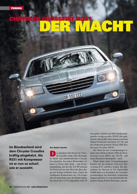 CHRYSLER CROSSFIRE R331 DER MACHT - Cartech