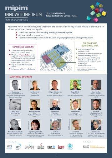 MIPIM Innovation Forum Programme