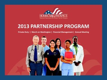2013 PARTNERSHIP PROGRAM - National Association for Home ...