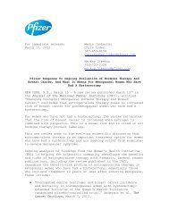 For immediate release: Media Contacts: March 15, 2012 ... - Pfizer