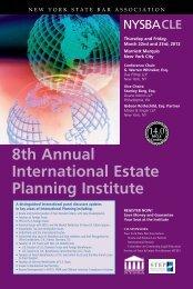 8th Annual International Estate Planning Institute - Kaiser Partner ...
