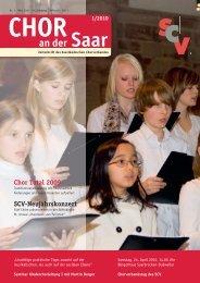 Chor an der Saar 1/2010 - Saarländischer Chorverband