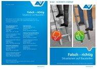 Merkblatt M 2020 Falsch- richtig Situationen auf Baustellen