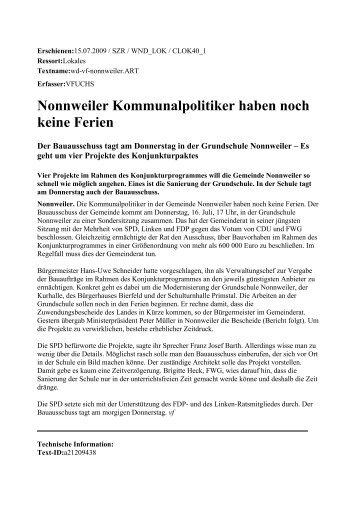 KW 29-3 - 15.07.2009 - FW/FWG Freie Wähler Landesverband e.V.