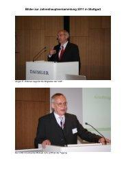 Bilder zur Jahreshauptversammlung 2011 in Stuttgart