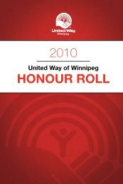 2010 HonoUr roll - United Way of Winnipeg