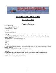 Plenary Session - The American Ceramic Society
