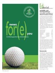 News for(e) you - Oktober 2011 - Golfclub Montafon