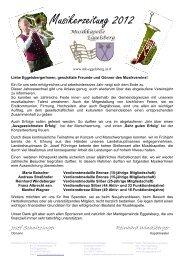 Musikerzeitung 2012 - Musikkapelle Eggelsberg Startseite