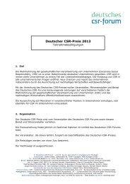Deutscher CSR-Preis -Teilnahmebedingungen - Deutsches CSR-Forum