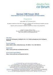 Programme ENGL 2013-01-31 - Deutsches CSR-Forum