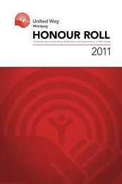 2011 HONOUR ROLL - United Way of Winnipeg